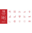 15 profit icons vector image vector image