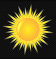 3d cute sun icon vector image
