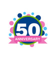 50th anniversary colored logo design happy vector image vector image