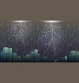 a thunderstorm storm urban scene vector image