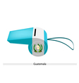 A Whistle of The Republic of Guatemala vector image