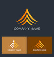 abstract arrow up curve logo vector image