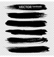 abstract big ink black long thick brush strokes vector image