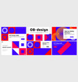 abstract colorful landing page template set with vector image