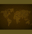 abstract world map with glowing particles vector image vector image