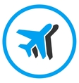 Airlines Circled Icon vector image vector image