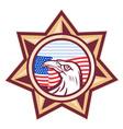 american sheriff badge vector image vector image