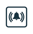 bell icon Rounded squares button vector image