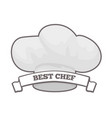 best chef cooking hat icon vector image vector image