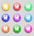 bookmark icon sign symbol on nine wavy colourful vector image