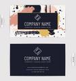 business card design creative template vector image