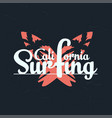 california surfing typography graphics vector image vector image