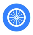 Cart-wheel icon black Singe western icon from the vector image vector image