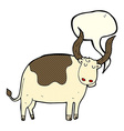 cartoon ox with speech bubble vector image