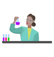 chemist doing research on white background vector image