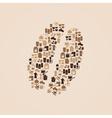 coffee icons like coffee bean eps10 vector image vector image
