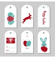 Collection of six Easter gift tags vector image