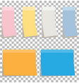 colorfull sticky notes blank sticky notes set vector image vector image
