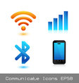 Communicate icon vector image