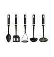 cooking tools 3d realistic utensil types set of vector image
