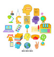 creative marketing icons set cartoon style vector image vector image