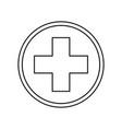 cross medical symbol vector image vector image
