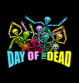 day of the dead multicolored skeleton color skull vector image vector image