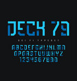 deck 79 futuristic industrial display typeface vector image vector image