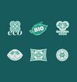 eco food stickers vector image vector image