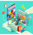Ecommerce Online Shopping Isometric Design Poster vector image vector image
