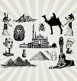 egyptian set vector image vector image