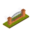 Fence Isometric vector image vector image