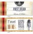 First award card karaoke template vector image