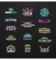 First big set music equalizer emblem vector image vector image