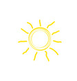flat sun icon vector image vector image