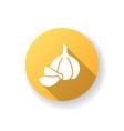 garlic yellow flat design long shadow glyph icon vector image vector image