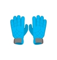 Gloves goalkeeper cartoon icon vector image vector image