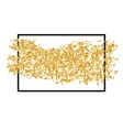 Golden randomly scattered sequins with black frame vector image