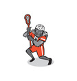 Gorilla Lacrosse Player Cartoon vector image vector image