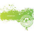green background with stamp vector image vector image