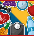 healthy lifestyle sport food vector image