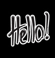 hello lettering vector image