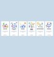 hobbies website and mobile app onboarding screens vector image vector image