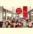 holiday shopping sale scene vector image vector image