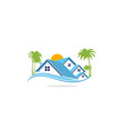 home realty palm tree residence logo vector image vector image