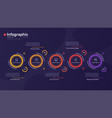 infographic template with round graphic vector image vector image