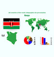 kenya all countries of the world infographics for vector image vector image