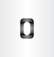 letter o 3d black icon vector image vector image