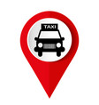 map marker with icon a taxi vector image vector image