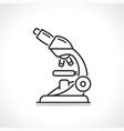 microscope instrument thin line icon vector image